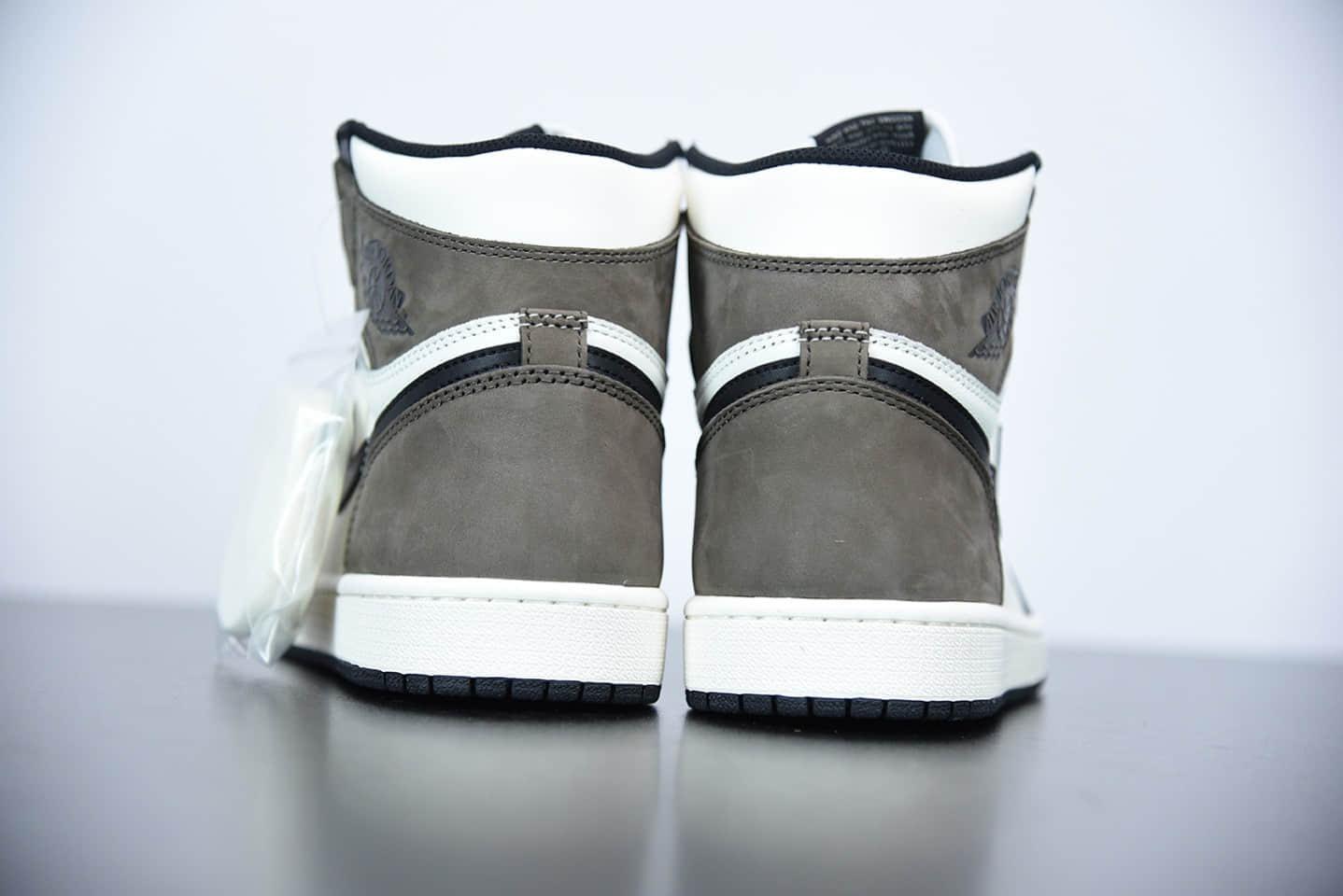 """乔丹Air Jordan 1 High OG""""Dark Mocha""""黑摩卡小倒钩高帮板鞋纯原版本 货号:555088-105"""