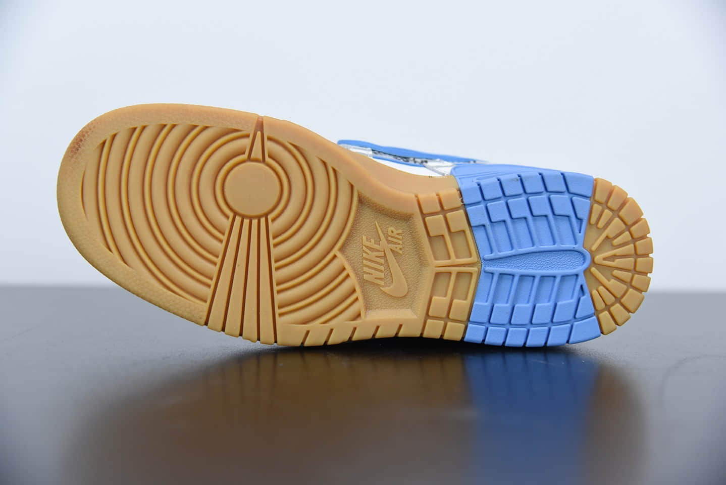 耐克OFF-WHITE x Nike Air Rubber Dunk北卡蓝欧洲限定联名款纯原版本 货号:CU6015-100