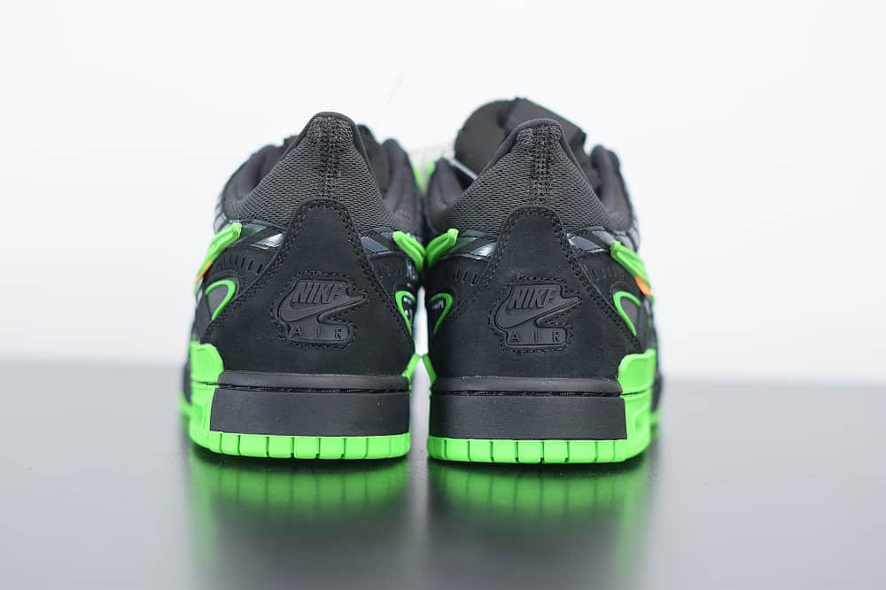 """耐克OFF-WHITE x Air Rubber Dunk """"Green Strike""""黑绿美洲限定联名款纯原版本 货号:CU6015-001"""