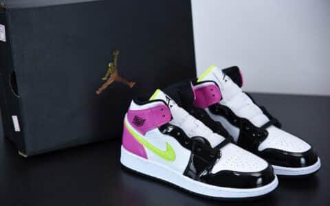 """乔丹Air Jordan 1 Mid """"Patent Leather""""白粉糖果女子中帮休闲板鞋纯原版本 货号:CZ9835-100"""