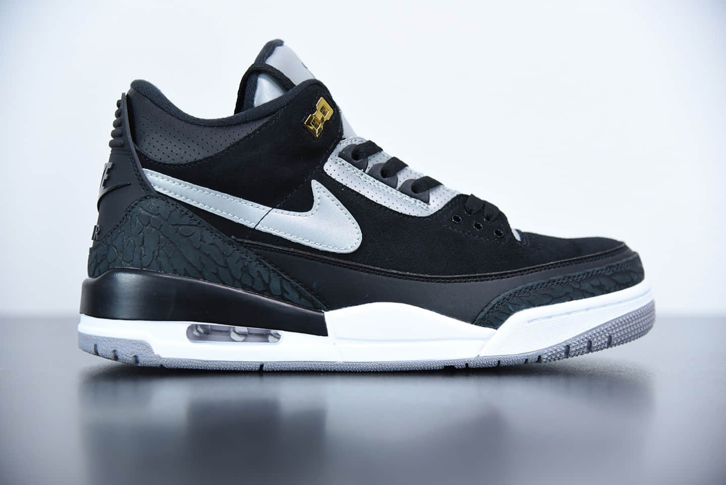 乔丹Air Jordan 3 Tinker 反光黑水泥配色板鞋纯原版本 货号:CK4348-007