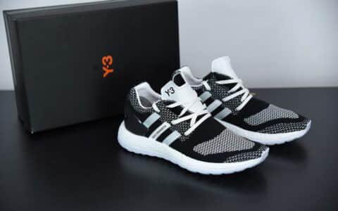 阿迪达斯adidasY-3 pureboost y3太极黑白运动休闲鞋纯原版本 货号:AQ5731