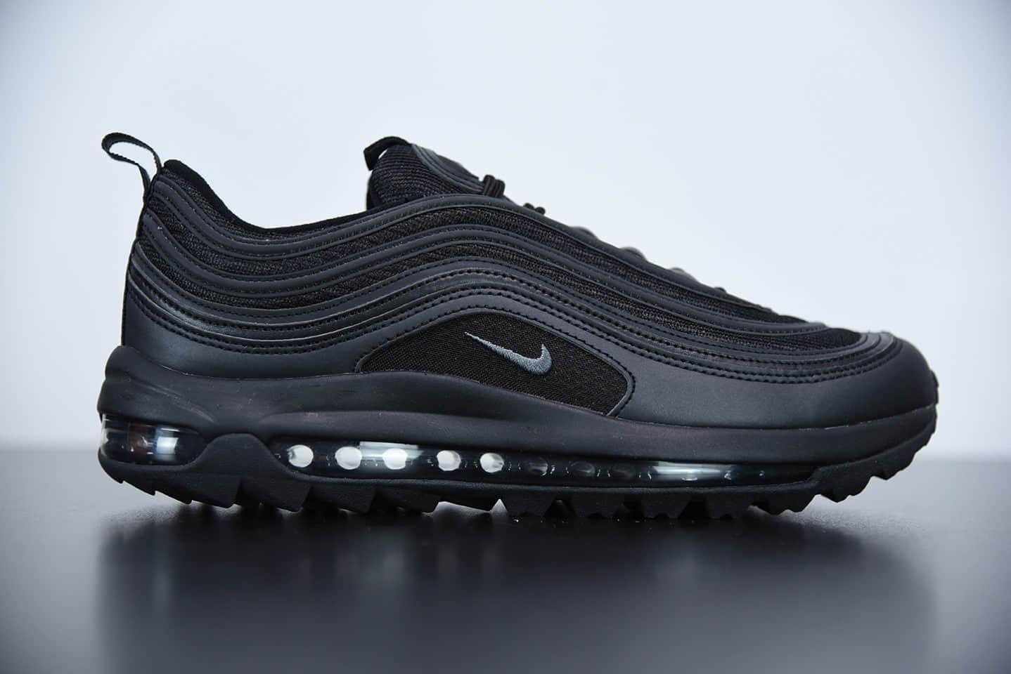 耐克Nike Golf Air Max 97G黑子弹头高尔夫球鞋纯原版本 货号:CI7538-101