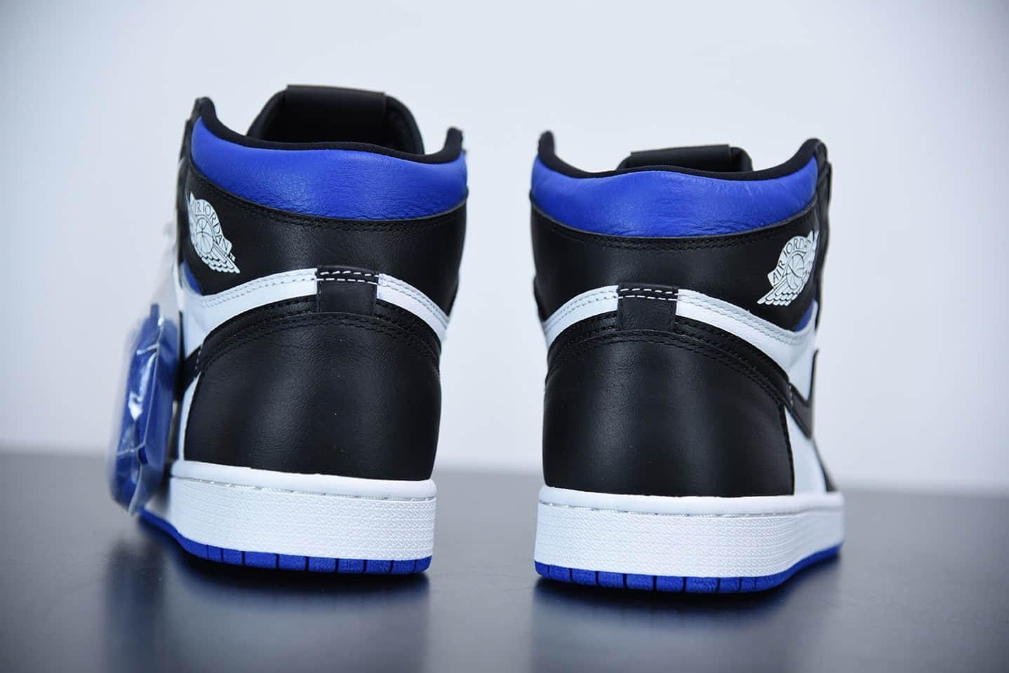 乔丹Air Jordan 1 Retro High OG White Royal王一博同款蓝黑脚趾板鞋纯原版本 货号:575441-041