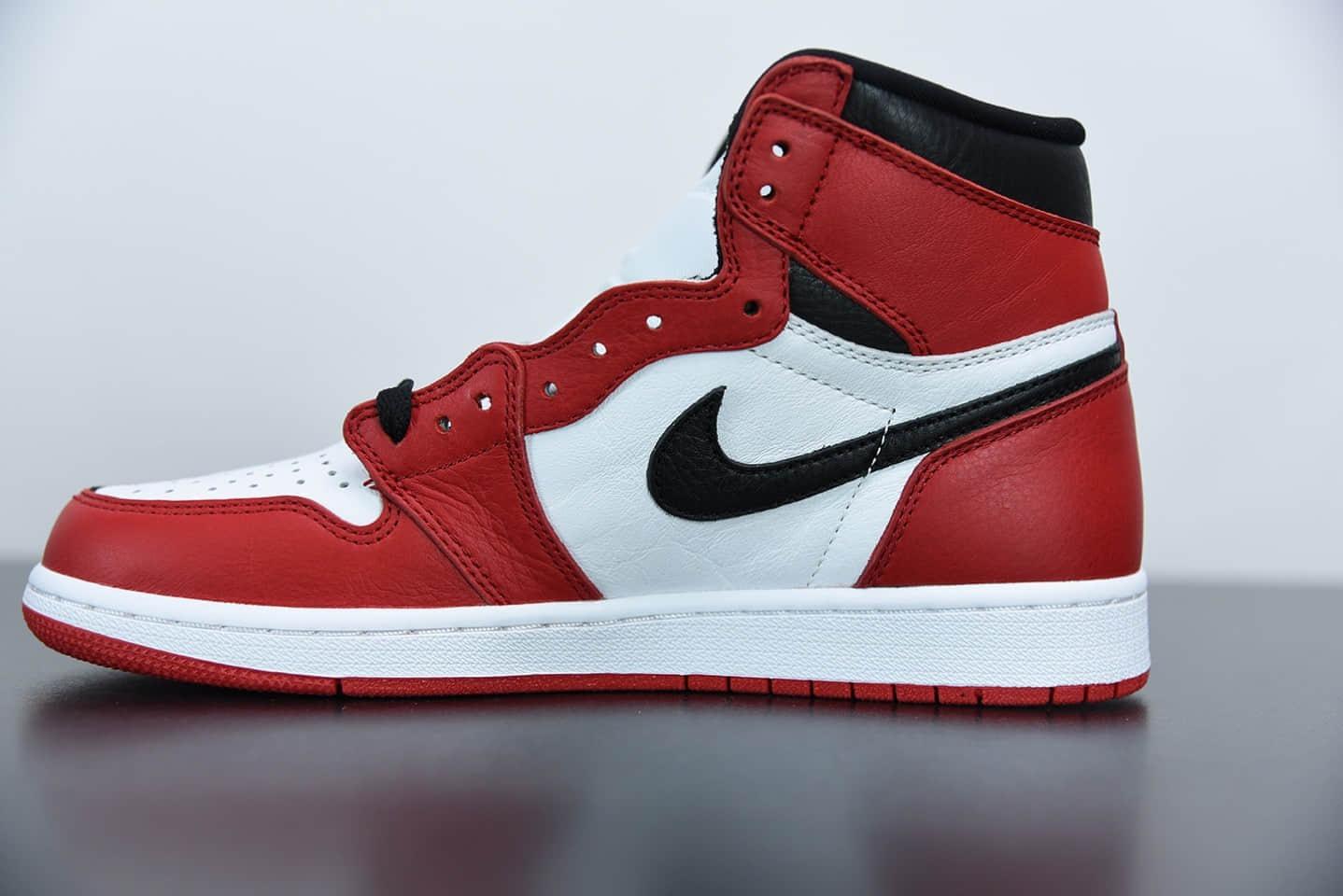 """乔丹Air Jordan 1 """"Homage To Home"""" 阴阳黑红鸳鸯小丑高帮板鞋纯原版本 货号:861428-061"""