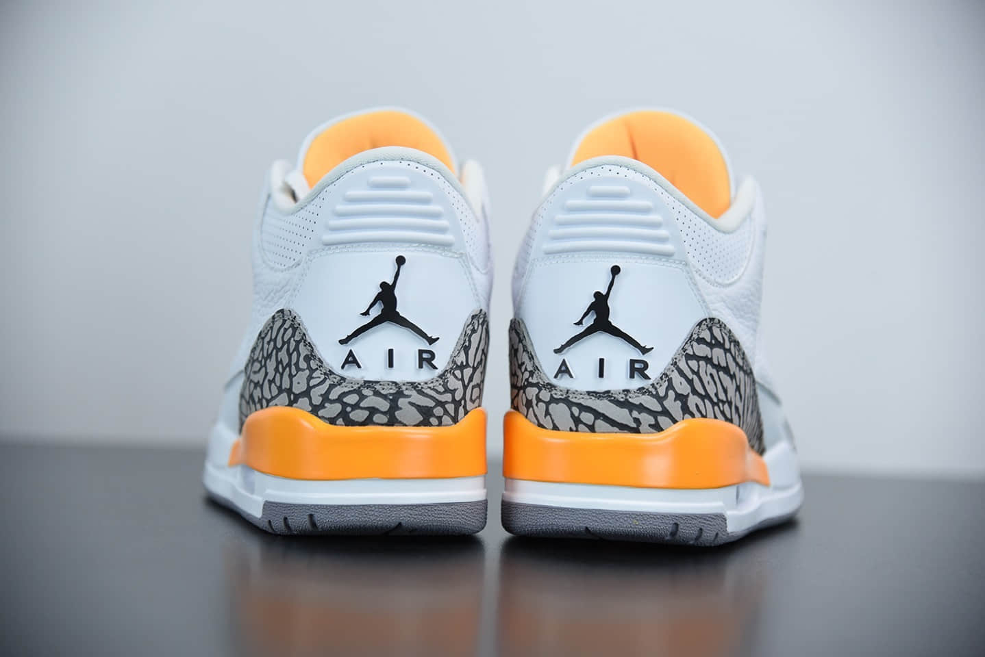 """乔丹Air Jordan 3 """"Laser Orange""""爆裂纹湖人配色篮球鞋纯原版本 货号:CK9246-108"""