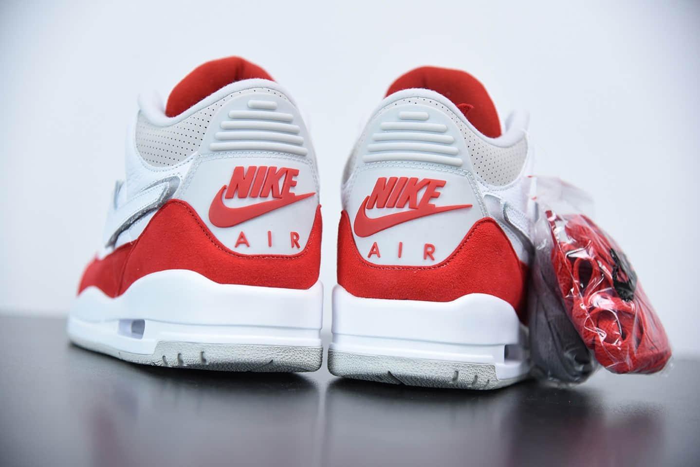 乔丹Air Jordan 3 RetroTinker 白红迈克尔中帮复古休闲运动文化篮球鞋纯原版本 货号:CJ0939-100