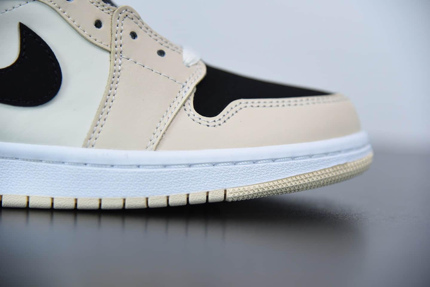 乔丹Air Jordan 1 Mid Barely Orange秋天的奶茶中帮休闲鞋纯原版本 货号:BQ6472-800