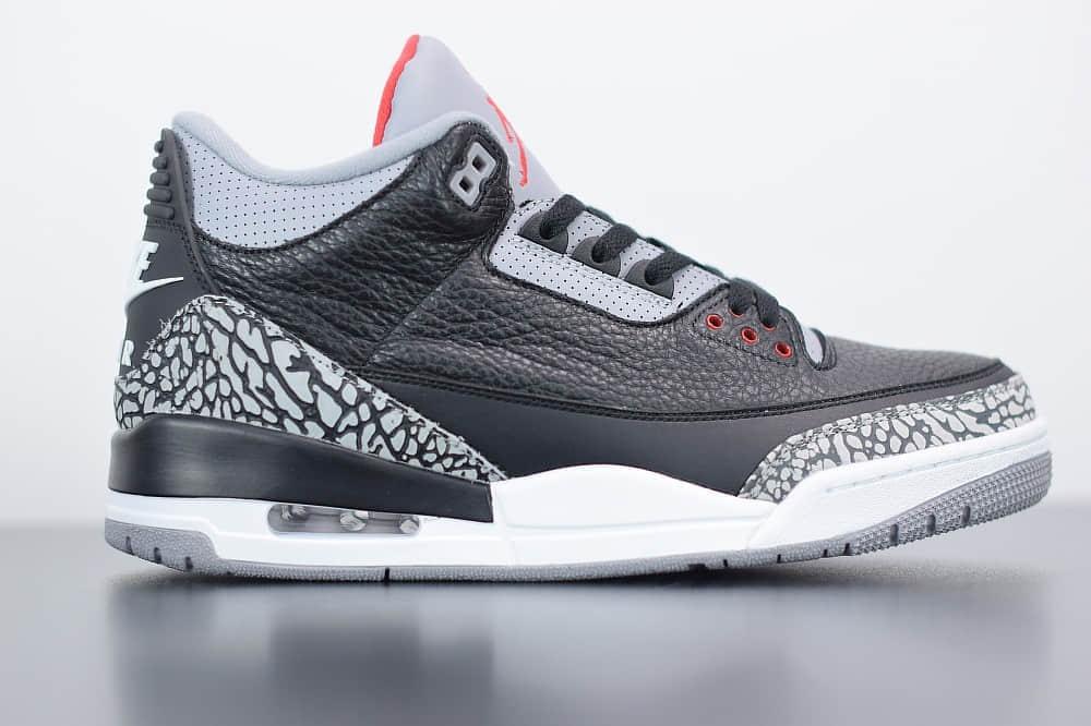 乔丹Air Jordan 3 Retro OG Black Cement复刻黑水泥男子文化篮球鞋纯原版本 货号:854262-001