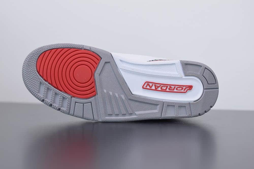 乔丹Air Jordan 3 Retro Hall of Fame爆裂纹飓风复古休闲运动文化篮球鞋纯原版本 货号:136064-116