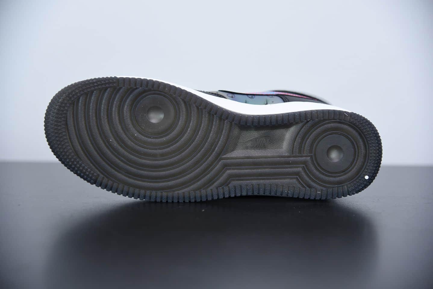 耐克Air Force 1 '07 LV8Good Game 电玩限定高帮黑炫彩镭射魔术贴空军一号板鞋纯原版本 货号:DC0831-101
