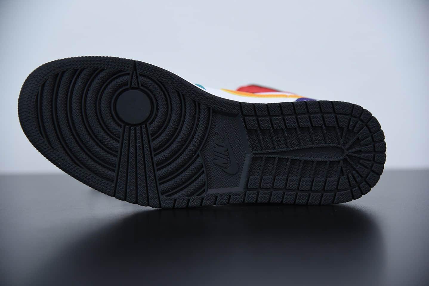 乔丹Air Jordan 1 Mid四色拼接中帮休闲板鞋纯原版本 货号:554724-125