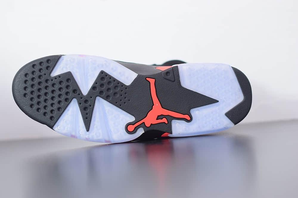 乔丹Air jordan 6 retro infrared 2019 release黑红外线复古休闲文化篮球鞋纯原版本 货号:384664-060