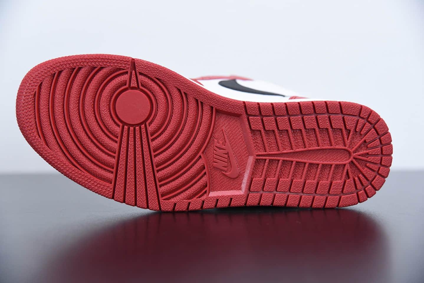 """乔丹Air Jordan 1 Mid """"Chicago""""小芝加哥中帮休闲板鞋纯原版本 货号:554724-173"""