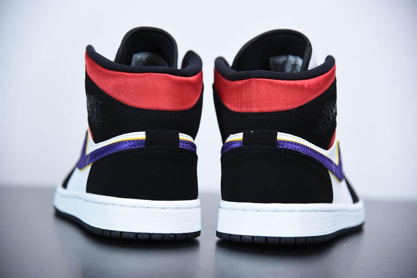 """乔丹Air Jordan 1 Mid """"What the""""湖人红蓝中帮板鞋纯原版本 货号:852542-005"""