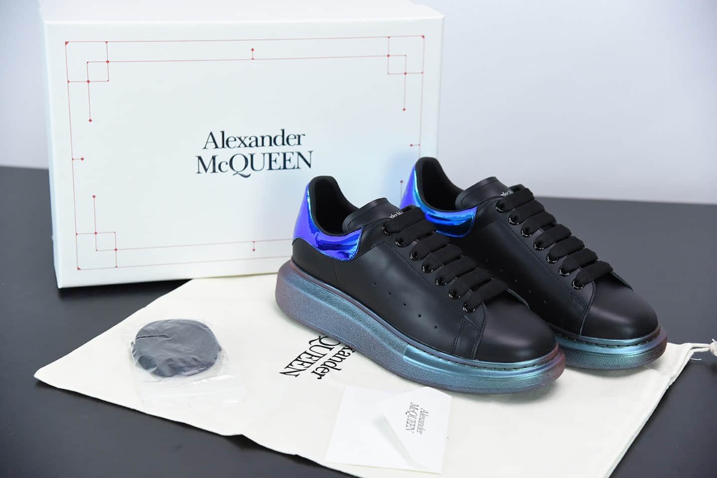 麦昆Alexander McQueen 2020早春款系列变色龙蓝尾松糕鞋纯原版本