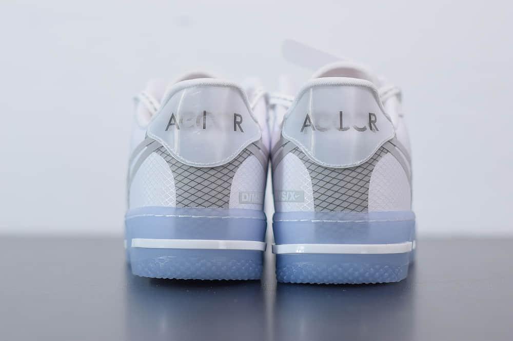耐克Nike Air Force 1 React DMSXWhiteLightSail-Rush Ice 白灰冰蓝空军一号新型瑞亚轻量低帮百搭板鞋纯原版本 货号:CQ8879-100