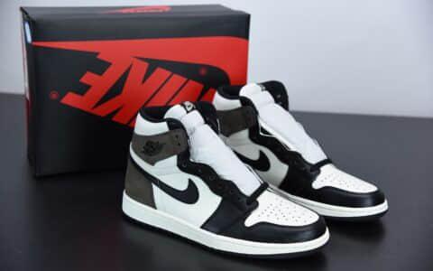 """乔丹Air Jordan 1 High OG""""Dark Mocha小倒钩黑摩卡高帮篮球鞋纯原版本 货号:555088-105"""