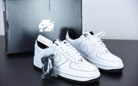耐克Nike Air Force 1 Low 马克笔黑白缝线空军一号低帮运动休闲板鞋纯原版本 货号: CV1724-104