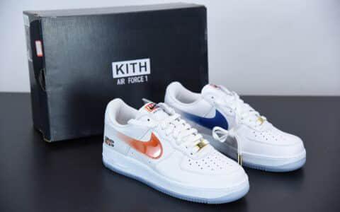 """耐克Nike Air Force 1 Low""""What The NYC""""空军一号白蓝橙低帮板鞋纯原版本 货号:CZ7928-100"""