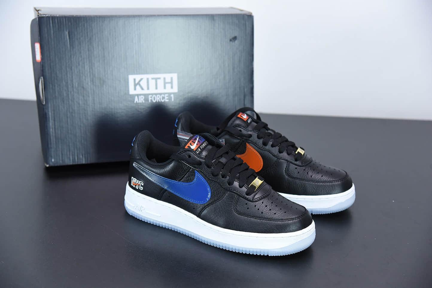 """耐克NikeAir Force 1 Low """" What The NYC"""" 纽约限定黑蓝低帮板鞋纯原版本 货号:CZ7928-001"""