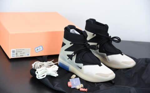 耐克Nike Air Fear of God 1 黑白灰联名高街敬畏上帝高帮球鞋纯原版本 货号:AR4237-902