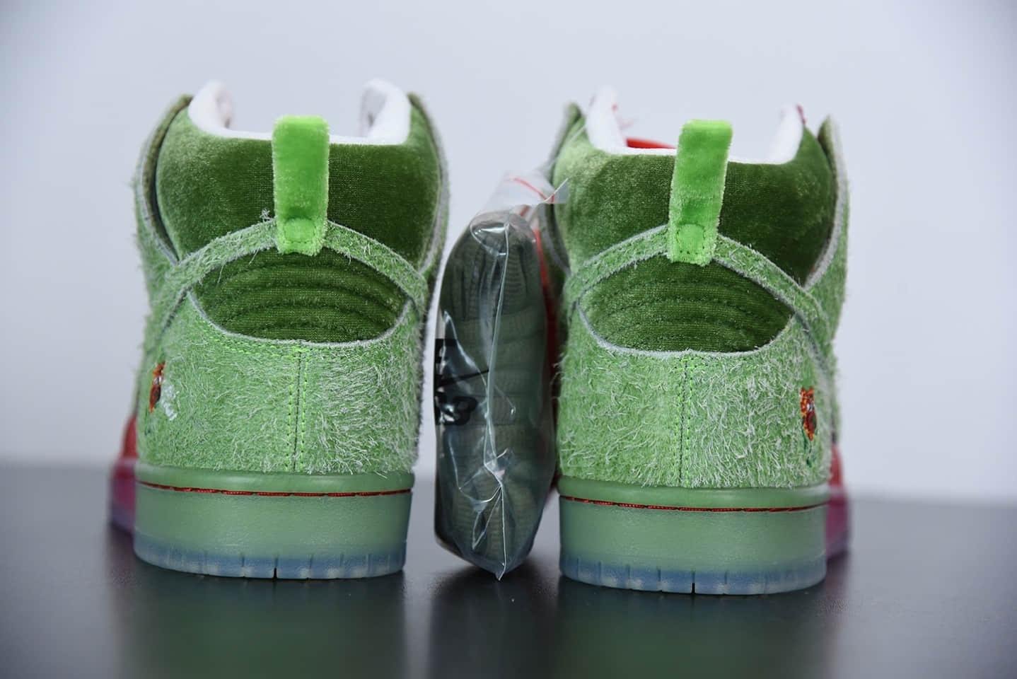 """耐克Nike SB Dunk high""""strawberry cough""""咳嗽草莓高帮休闲板鞋纯原版本 货号:CW7093-600"""