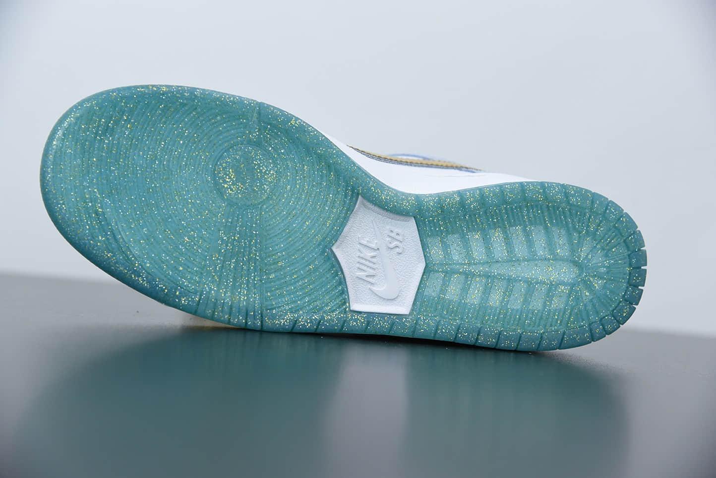 耐克Sean Cliver x SB Dunk Low Pro QS冬季情人节冰雪奇缘白雪公主艺术家滑板鞋纯原版本 货号:DC9936-100
