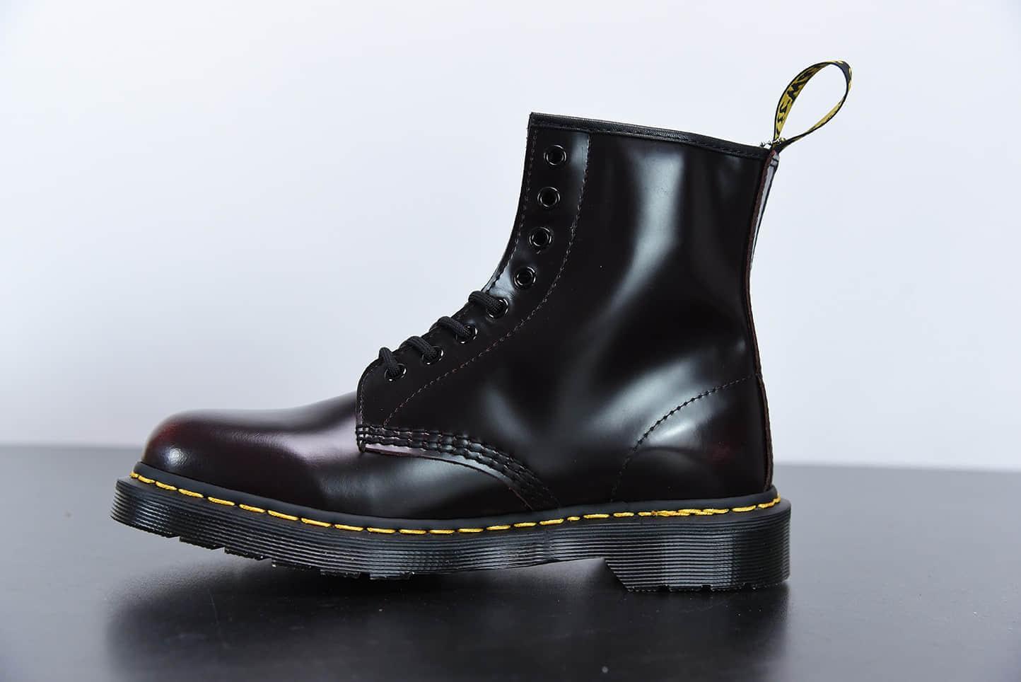 马汀博士Dr. Martens Bex 8-Eye Boot 1460酒红色高帮系列复古八孔系带全皮工装马丁靴纯原版本
