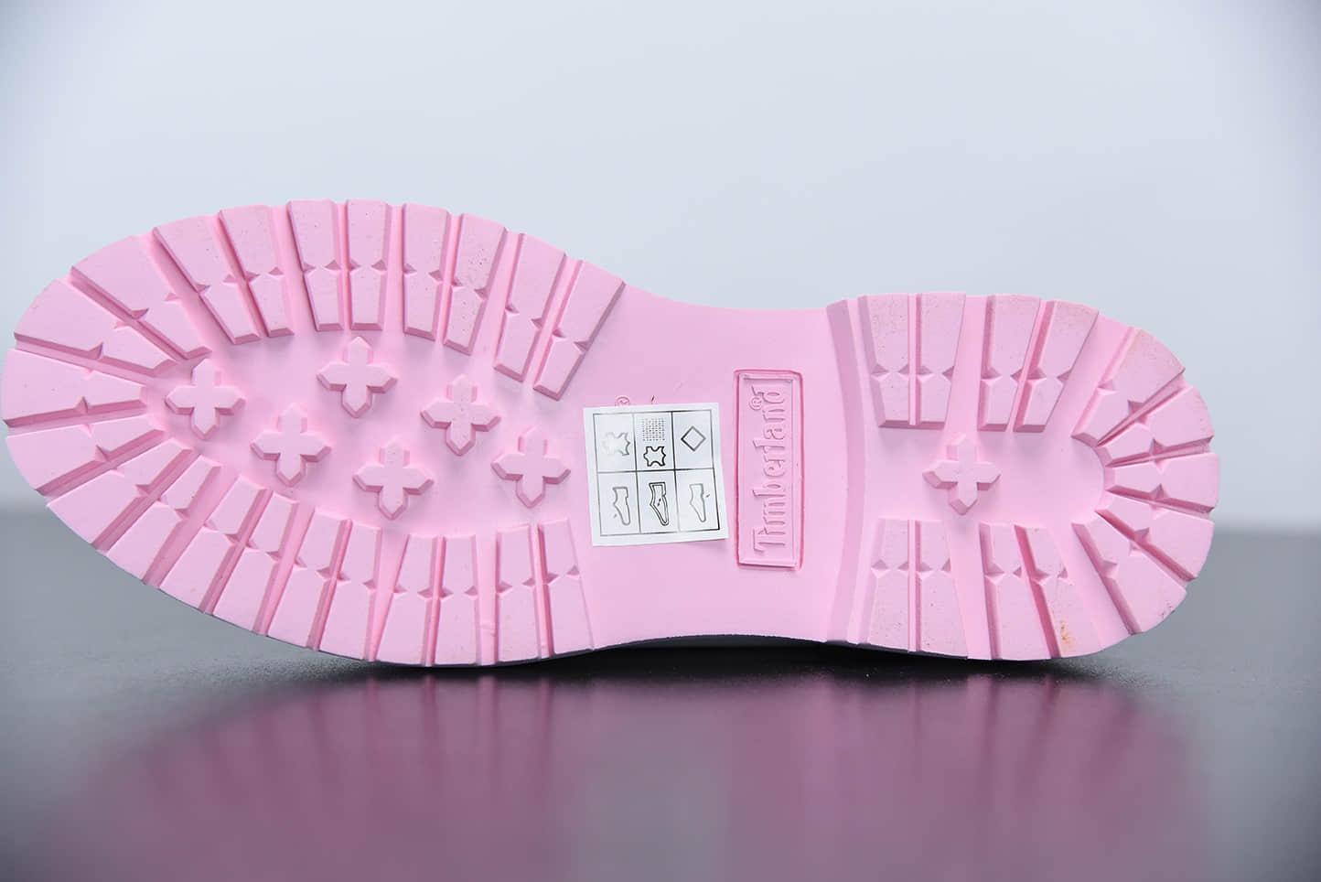 添柏岚Timberland女神粉低帮四孔情人节限定爱心系列工装鞋纯原版本