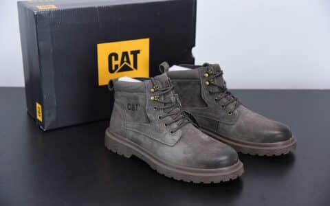 卡特CAT FOOTWEA浅灰六孔工装休闲复古潮鞋纯原版本