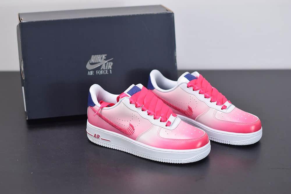 """耐克Nike Air Force 1 """"Kay Yow渐变白粉配色抗乳腺癌限定休闲板鞋纯原版本 货号: CT1092-100"""