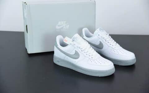 耐克Air Force 1 Low 白灰色空军一号低帮休闲板鞋纯原版本 货号:CK7663-104
