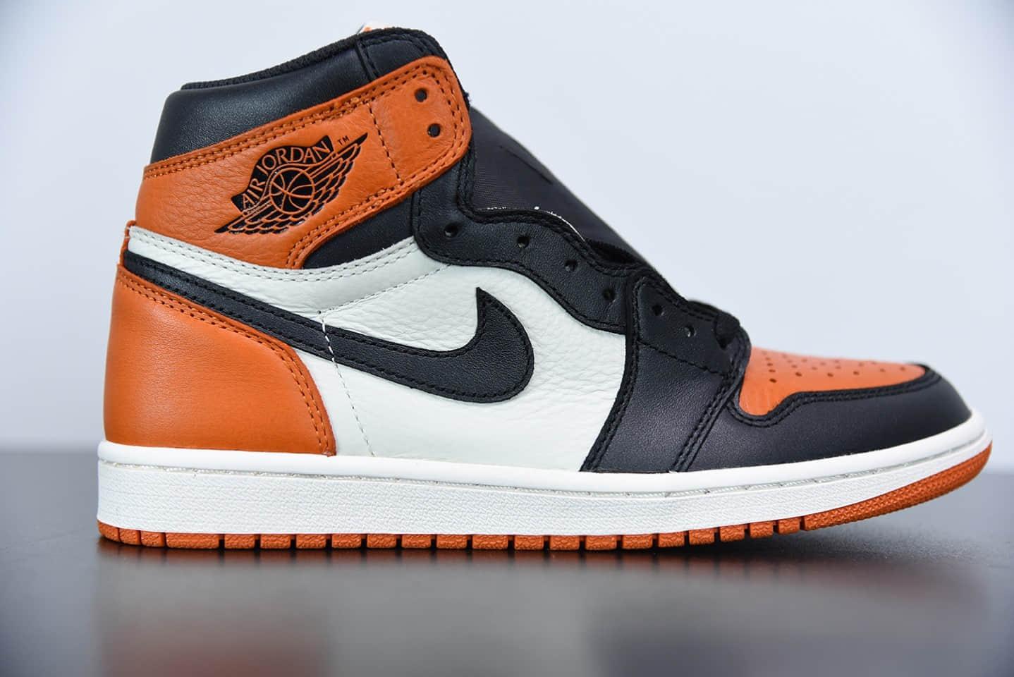 乔丹 Air Jordan 1 Satin Backboard黑橙扣碎丝绸高帮板鞋纯原版本 货号:AV3725-010