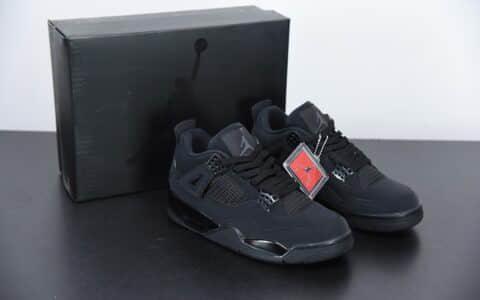 """乔丹Air Jordan 4 """"Black Cat"""" 黑猫中帮实战篮球鞋纯原版本 货号:CU1110-010"""