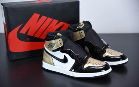 """乔丹Air Jordan 1Gold Top 3""""黑金鸳鸯高帮板鞋纯原版本 货号:861428-001"""