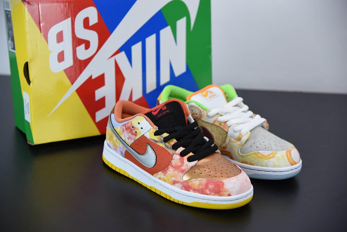 """耐克Nike SB Dunk Low """"CNY""""中国年鸳鸯扎染低帮滑板鞋纯原版本 货号:CV1628-800"""