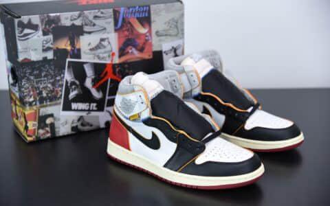乔丹Union Los Angeles x Air Jordan 1 Retro High OG NRGRedBlack Store List 联名拼接黑脚趾高帮板鞋纯原版本 货号:BV1300-106