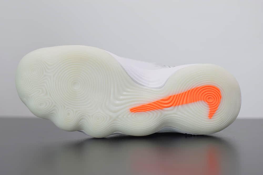 耐克Off-White x Nike REACT Hyperdunk 2017白黑橘超扣篮系列高帮休闲运动文化篮球鞋纯原版本 货号:AJ4578-100