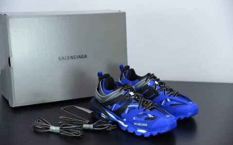 巴黎世家BALENCIAGA Track Trainers 3.0代复古黑蓝老爹鞋潮流百搭慢跑鞋纯原版本 货号:542436W2LA12049
