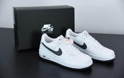 耐克Nike Air Force 1'07Summit White后跟线条几何涂鸦空军一号经典低帮百搭休闲运动板鞋纯原版本 货号:DD7113-100