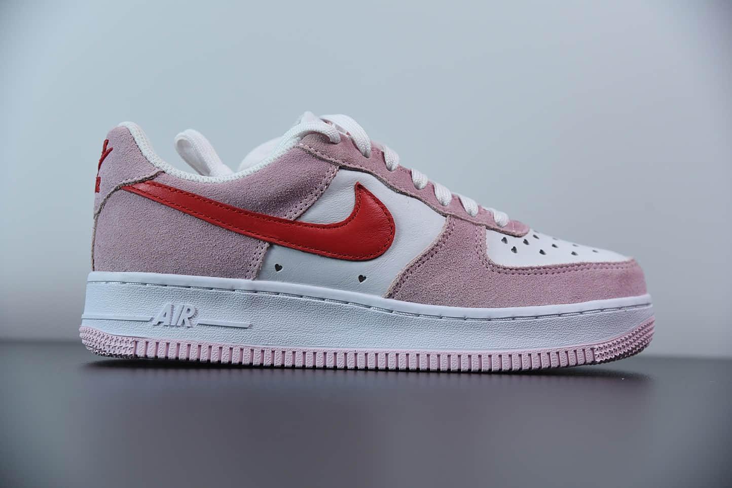 耐克Nike Air Force 1 '07 QS 权志龙同款空军一号粉红情人节低帮板鞋纯原版本 货号:DD3384-600