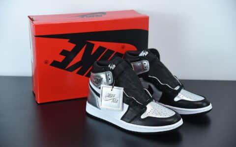 乔丹Air Jordan 1 High OGMetallic Silver小伦纳德黑银脚趾高帮板鞋纯原版本 货号:CD0461-001