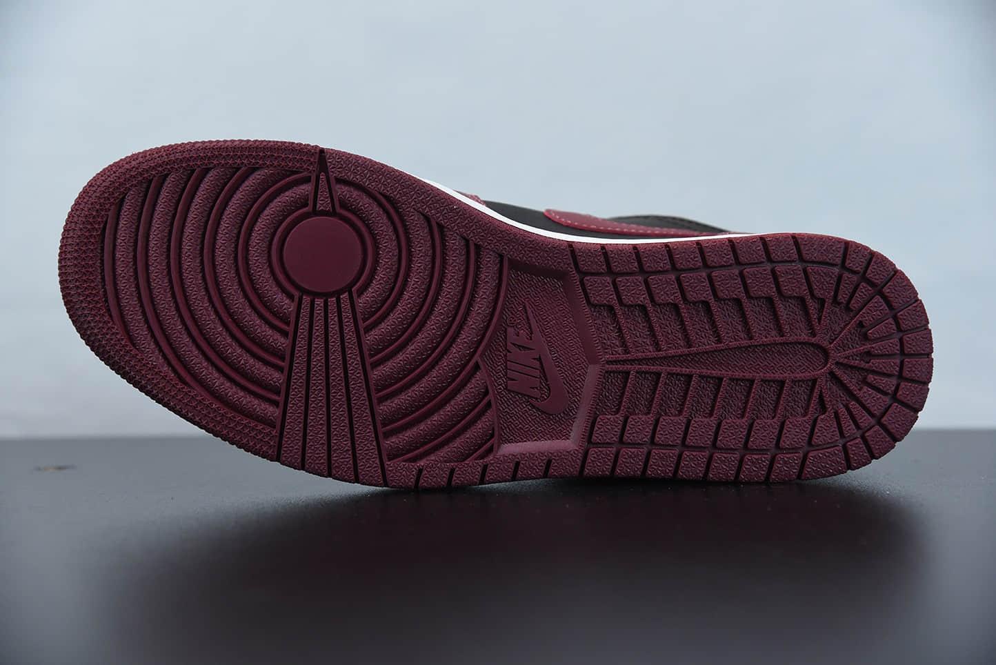 乔丹Air Jordan 1 Low 黑酒红金属飞翼低帮休闲鞋纯原版本 货号:DB6491-600