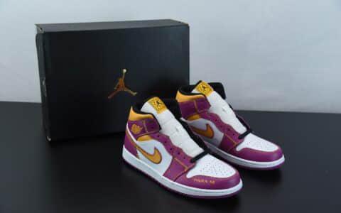 乔丹Air Jordan 1 Mid DOD 白黄粉亡灵节中帮文化篮球鞋纯原版本 货号:DC0350-100