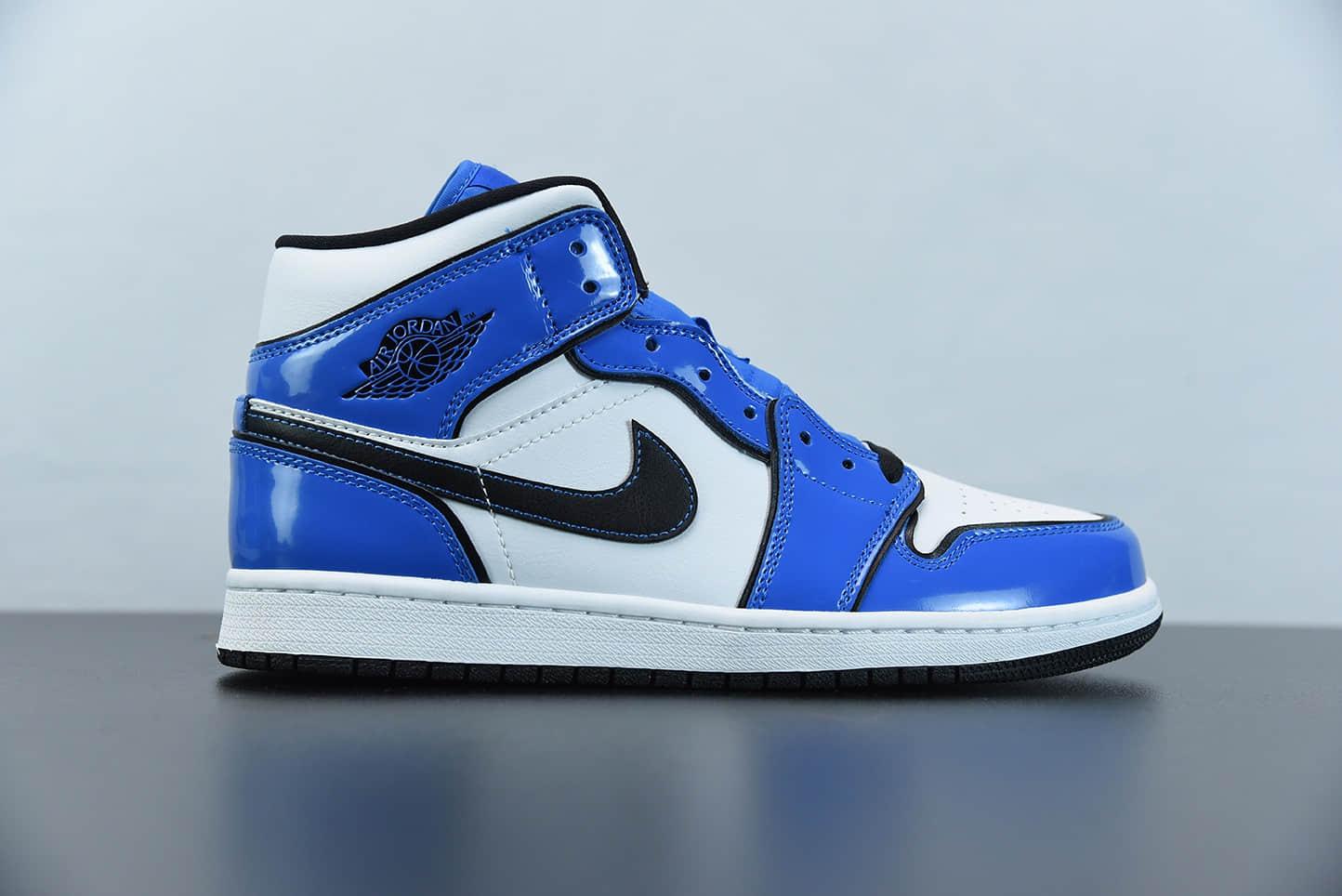 """乔丹Air Jordan 1 Mid SE """"Signal Blue""""二次元小闪电中帮休闲鞋纯原版本 货号:DD6834-402"""