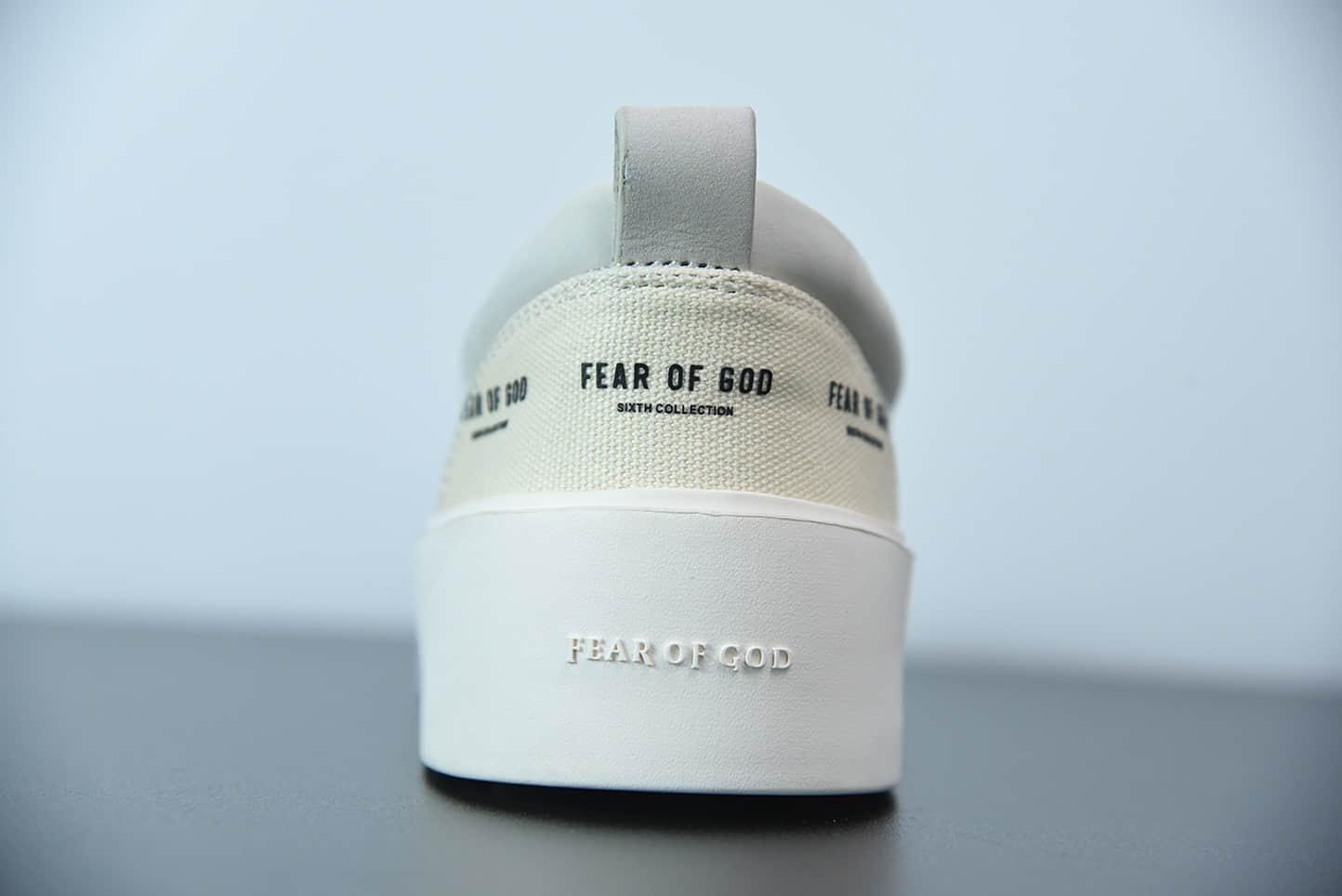 FOG Fear of God 主线101 Lace up 印花logo米白低帮板鞋纯原版本 货号:6H197000SCA