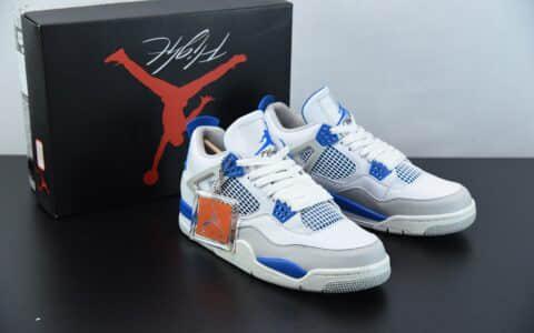 """乔丹Air Jordan 4 OG """"Military Blue"""" 白蓝中帮休闲运动文化篮球鞋纯原版本 货号:308497-105"""
