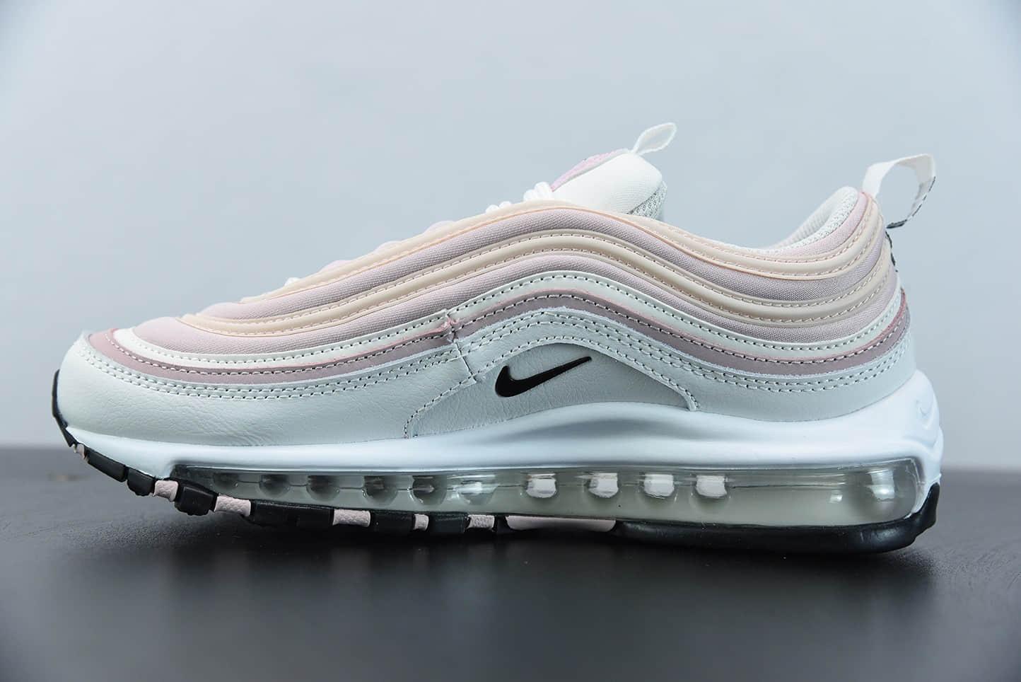 耐克Nike Air Max 97白粉配色子弹复古全掌气垫休闲运动鞋纯原版本 货号: DA9325-100