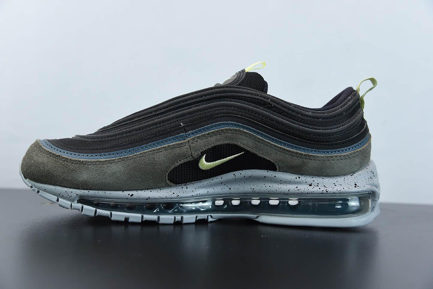 耐克Nike Air Max 97 黑绿配色子弹全掌气垫复古运动鞋纯原版本 货号:DB4611-001